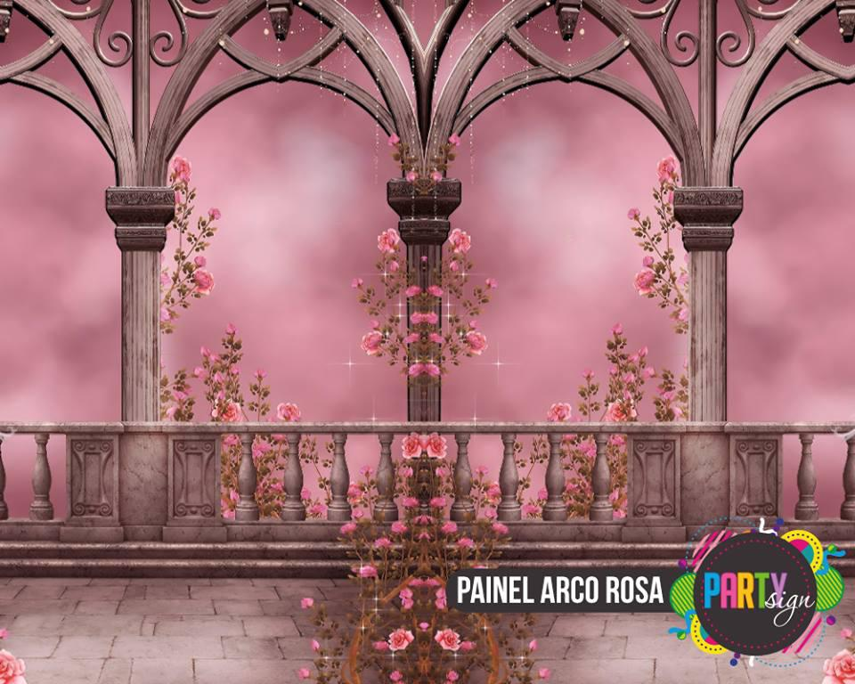 painel arco rosa